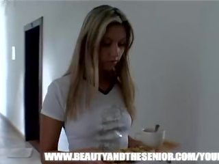 Young Blonde Girl Getting Fucked by an Old Guy