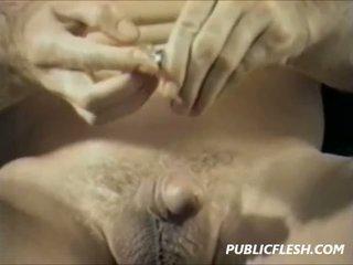 Vintage gay urethra inserción