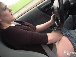 brunette, masturbating, onanerer