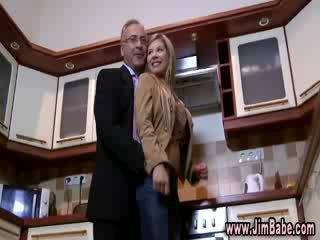 Doll undressing in the kitchen
