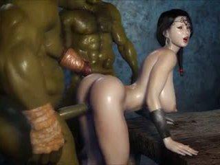 2 geants baisent une jolie fille, kostenlos porno 3c