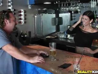 brünette, realität, hardcore sex
