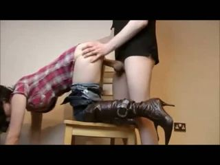 Amateur cowgirl quicky and creampie