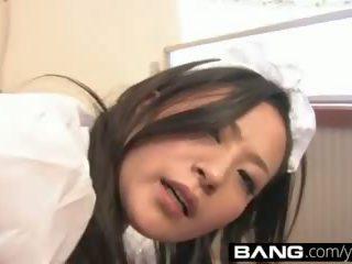 bruneta, mladý, japonec