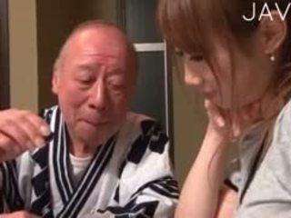 日本, 孩儿, 老+年轻