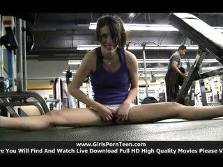 sport qualité, chaud gym agréable, solo girls voir