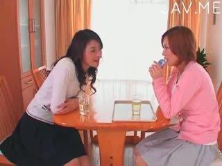 japonês, lésbica, dedilhado