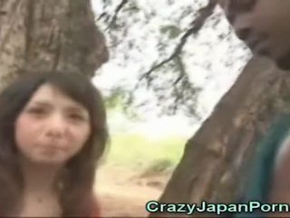 Aziatisch cutie sucks an afrikaans!