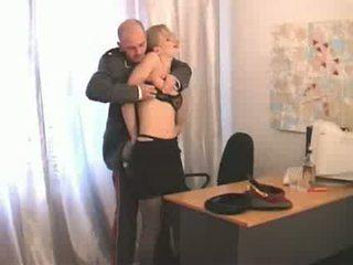 mädchen, russisch, officer