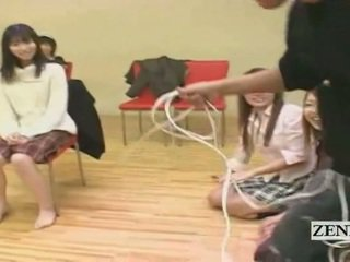 Subtitled Amateur Japanese Spread Vibrator Penalty Game