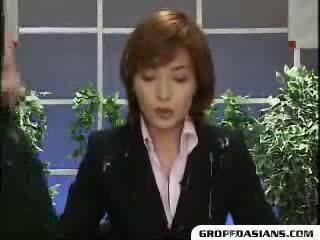 Guys cum on news anchor