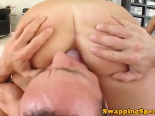Horny cum swapping sluts nailed and bj