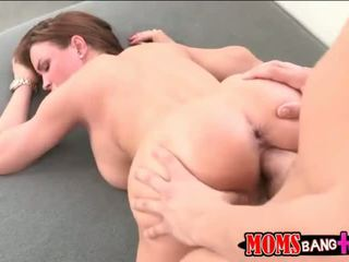 MILF Abby Cross 3some with her stepson