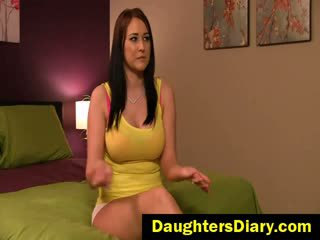 brunette, store bryster, fingret