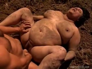 Farmer stretches mud filled me tule