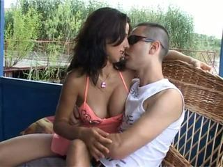 Crazy HOT Romanian Jaclin give a blowjob and gets her perfect pussy fucked