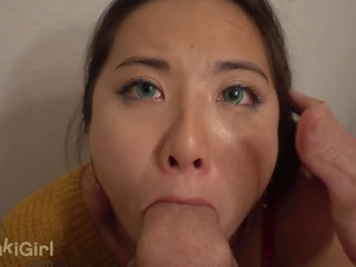 POV THROATFUCK 18 yr old GREEN EYES ASIAN You Can't watch WITHOUT cumming