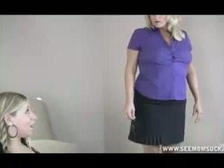 Μαμά που πιάστηκε αυτήν έφηβος/η κόρη τσιμπουκώνοντας bf s καβλί