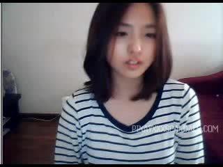 cámara web, adolescente, asiático