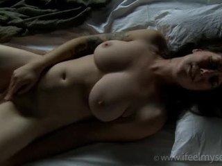 orgasmo, corpo, masturbando