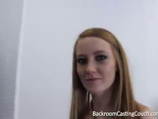 squirting, couch, redhead