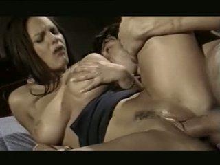 si rambut cokelat, oral seks, group sex