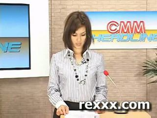News reporter gets bukakke during her work (maria ozawa bu