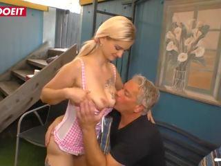 Letsdoeit - tiener babe seduced en geneukt hard door haar stap oomje