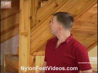 Clothilda And Peter Nasty Stockings Feet Video