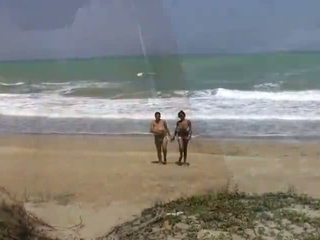 lesbians, shaved pussy, beach
