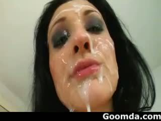 Aletta Ocean different types cumshoots to her face 2