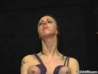Piercing Torture And Breast Hanging Sadism Of Big Titted Bondman Nymph Emily Sharpe In Freaky Bondage, Tears And Huge Raw Pain