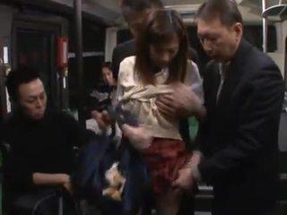 Kaori maeda has hotly i bërë dashuria nga një pak males në një publike autobuz