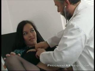गर्भवती, माँ, चिकित्सक