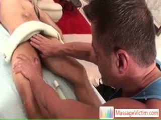 Jake getting his uly sik massaged and sucked by massagevictim