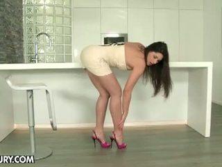 cālis, masturbē, shaved pussy