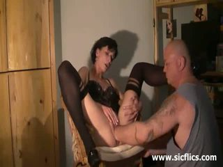 Extreme housewife brutally deep fisted in her twat