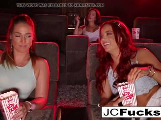 Jayden cole 3-way lesbiete romp, bezmaksas 3 ways hd porno f3
