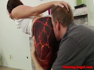 Jodi Taylor sitting on his face