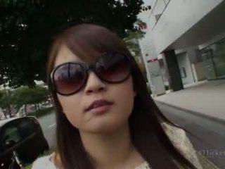 brunette, japanese, outdoor sex