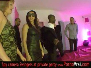 Γαλλικό ερωτύλος πάρτι σε ένα ιδιωτικό κλαμπ μέρος 03