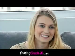 Young Blonde Passes A Casting