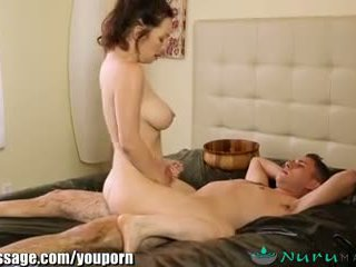 Nurumassage cougar stepmom gets sons jago