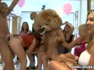 Oděná žena nahý mužské birthday strana s male strippers na tanec nést (db9747)