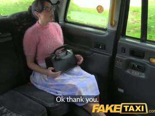 FakeTaxi Brunette with glasses pays the price for being rude - Porn Video 911