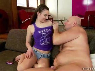 Grootvader neuken sexy tiener pop mooi vet