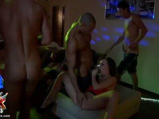 brunetă, dracu 'de grup, sex în grup