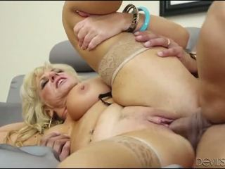 Horny Granny Enjoys Being Fucked By A Younger Guy