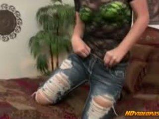 Ripped jean rabos rainha