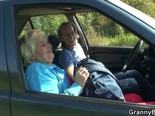 grandma, housewife, car
